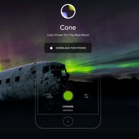 'Cone', una app para capturar los colores de la vida real