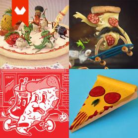 10 diseños con la pizza como protagonista