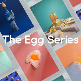 El huevo como musa del diseño 3D
