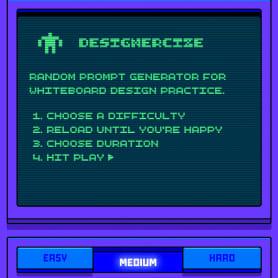 Designercize: un generador de briefs en 8-bits