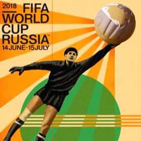 Los carteles de la Copa Mundial de Fútbol de 1930 a 2018
