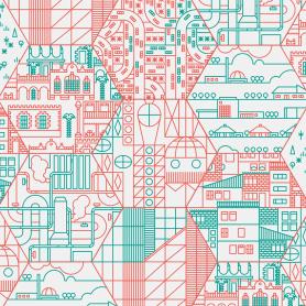 Ilustración y diseño urbanístico para niños