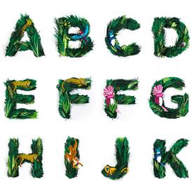 Tipografía y papercraft con sabor tropical