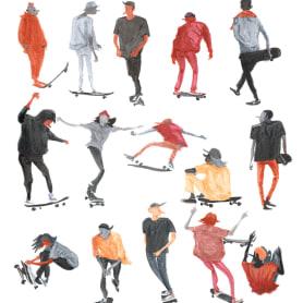 Julien Missiaen ilustra el mundo del skate