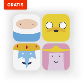 Descarga gratis el pack de iconos de Adventure Time