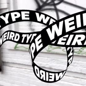 Weird Type, la app que juega con la tipografía en el mundo real