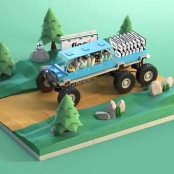FiOS by Verizon - Learn More Campaign. Un progetto di Design, Pubblicità, Motion Graphics, 3D, Animazione, Direzione artistica, Character Design, Multimedia, Scenografia, Video, TV , e Animazione di personaggi di Jose Checa - 01.07.2016