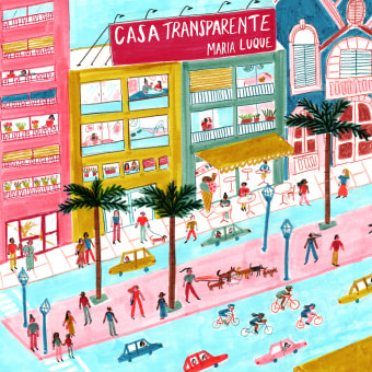 Casa transparente. A Illustration, Comic, and Drawing project by María Luque - 11.23.2017
