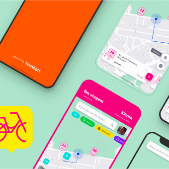 App Bike Sharing - Tembici / Bike Itaú. A UI / UX, and Mobile design project by Diogo Kpelo - 04.01.2019