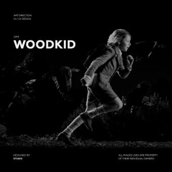 Dirección de arte digital - Woodkid. Un progetto di UI/UX, Direzione artistica, Web Design , e Design per smartphone di Saul Fernandez - 28.08.2019