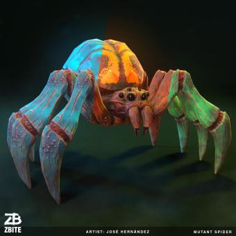 Mutant Spider Stylized. Un projet de 3D, Conception de jeux  , et Modélisation 3D de jose hernandez - 24.10.2019