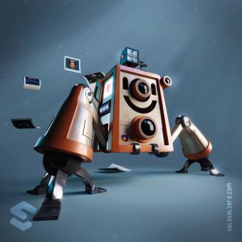 InstaBot. Un progetto di 3D, Character Design, Rigging, Modellazione 3D, Character design 3D, Progettazione 3D , e Design digitale di Luis Miguel Maldonado Redondo - 08.02.2020