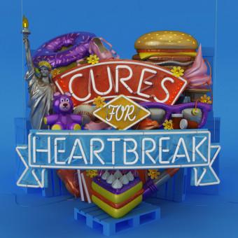 Harper Collins - Cures For Heartbreak. Un projet de Modélisation 3D, Illustration jeunesse , et Lettrage 3D de Thomas Burden - 12.12.2015