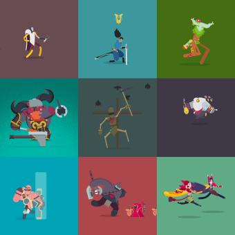 Personajes del League of Legends en 2D. A Motion Graphics, Animation, Character Design, Rigging, Character animation, and 2D Animation project by Manuel Díaz Delgado - 04.05.2020