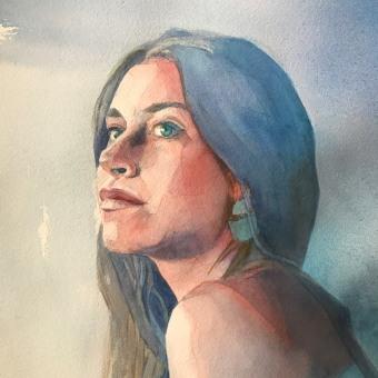 Mi Proyecto del curso: Retrato artístico en acuarela. A Fine Art project by Llanos Part Jornet - 05.28.2020