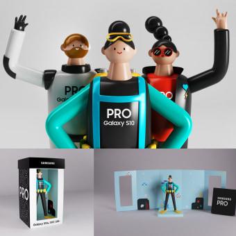 SAMSUNG PRO_Galaxy S10. Um projeto de Ilustração, 3D, Br, ing e Identidade, Design gráfico, Design de logotipo, 3D Design e Design de apps  de Miguel Ameller Álvarez - 13.09.2020