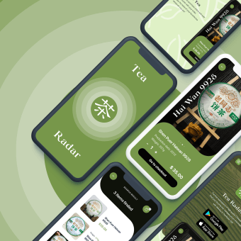 Tea Radar Mobile App & Promo Page. My project in Interface Design with Sketch course. Un projet de UI / UX, Animation, Web Design, Développement web , et Animation 2D de Nikita Apoykov - 13.09.2020