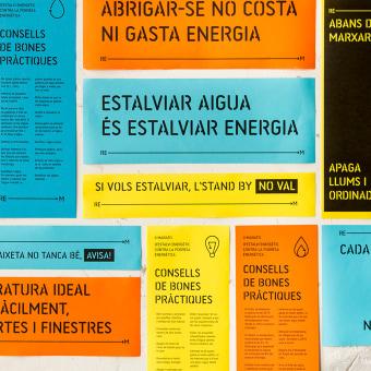 Matatón de ahorro energético. Un projet de Design , Design graphique, Signalisation, Conception d'icônes, Conception d'affiche , et Communication de Núria Vila Punzano - 29.10.2017