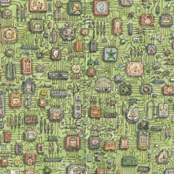 Moleskine sketchbook 38. Un projet de Illustration, Dessin, Carnet de croquis et Illustration d'encre de Mattias Adolfsson - 23.11.2020
