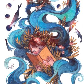 Mi Proyecto del curso: Técnicas de acuarela para ilustraciones de ensueño. Un proyecto de Ilustración y Pintura a la acuarela de Gemma Capdevila - 23.11.2020