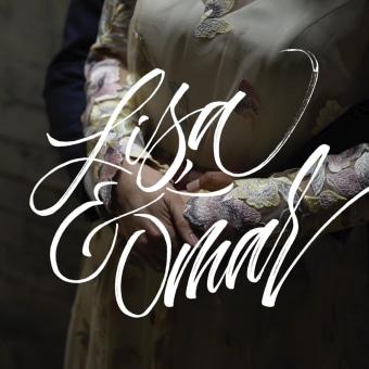 Lettering - A&Y Video. Un projet de Calligraphie, Calligraphie avec brushpen, H , et lettering de Iván Caíña - 01.01.2020