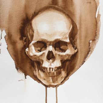 Art Anatomy: The Skull. Un progetto di Illustrazione, Belle arti, Pittura, Pittura ad acquerello, Disegno di ritratto, Disegno artistico, Disegno anatomico e Illustrazione editoriale di Michele Bajona - 18.01.2021