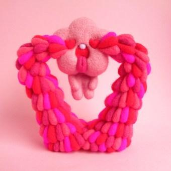 Valentine, the Love Cloud. Um projeto de Design de personagens, Artesanato, Artes plásticas, Escultura, To e Art de droolwool - 01.02.2021