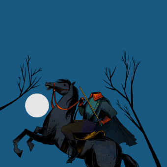 A lenda do cavaleiro sem cabeça - Sleepy Hollow. Un projet de Illustration, Dessin, Illustration jeunesse, Dessin numérique, Narration et Illustration éditoriale de Weberson Santiago - 07.02.2021