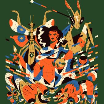 Alados 10. Un progetto di Design, Illustrazione, Direzione artistica, Belle arti, Teoria del colore e Illustrazione editoriale di Profe - 01.02.2021