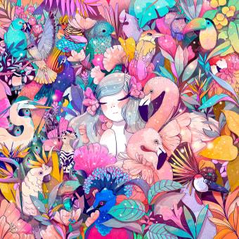 ATMÓSFERAS. Un projet de Illustration, Illustration numérique, Illustration botanique et Illustration éditoriale de Karla Hernández / Charlötte - 10.02.2021