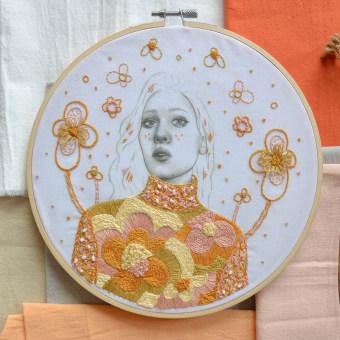 Mi Proyecto del curso: Estampación y bordado de retratos realistas. Un proyecto de Ilustración, Ilustración de retrato, Estampación, Bordado, Tejido y Dibujo digital de Yamila Yjilioff - 16.02.2021