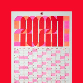 2021 Risograph CALENDAR. Un proyecto de Diseño gráfico, Animación 2D y Diseño de carteles de Antton Ugarte Ibarrondo - 24.02.2021