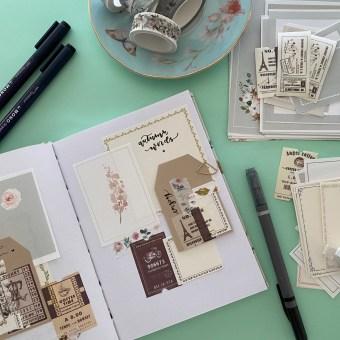 Art journal, una forma de avivar tu creatividad cada día. Un projet de Papercraft de Little Hannah - 26.02.2021