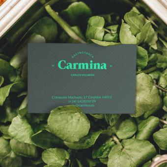 Carmina. Gastrotasca. Um projeto de Br, ing e Identidade, Design gráfico, Packaging e Design de logotipo de Gabriel Sencillo - 03.03.2021