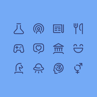 Set de Íconos Vol.1 - Propuesta. Un projet de Design graphique , et Conception d'icônes de Hermes Mazali - 12.03.2021