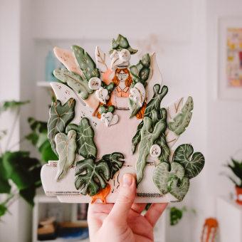My project in Ceramic Illustration and Modeling Techniques course. Un progetto di Illustrazione , e Ceramica di madebymura - 22.03.2021
