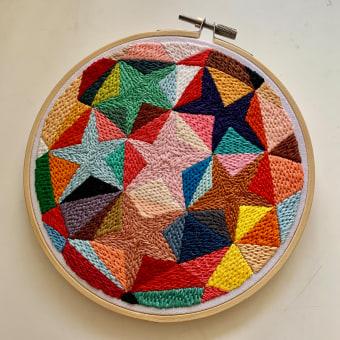Estudio de color y textura. Um projeto de Bordado de Coricrafts - 23.03.2021