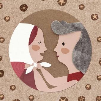 Pañuelito blanco: video animado . Um projeto de Ilustração, Animação, Design de personagens, Colagem, Animação 2D e Criatividade para crianças de Estrellita Caracol - 25.03.2021