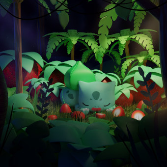 VDI: Bulbasaur. A Illustration, 3D, 3d modeling, and Concept Art project by Osmar Axel Rivera Mejia - 03.26.2021