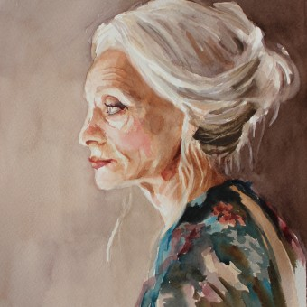 Watercolor Portraits: Age. Un projet de Illustration, Beaux Arts, Peinture, Aquarelle, Illustration de portrait, Dessin de portrait , et Autoportrait photographique de Michele Bajona - 08.04.2021