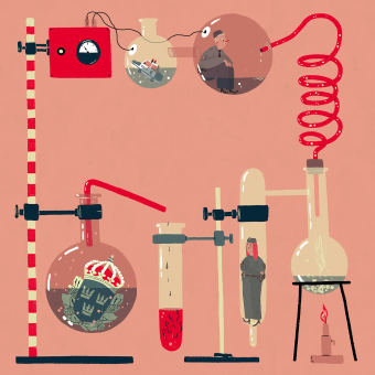Editorial illustrations: Polistidningen. Un progetto di Illustrazione, Illustrazione digitale e Illustrazione editoriale di Emma Hanquist - 14.04.2021