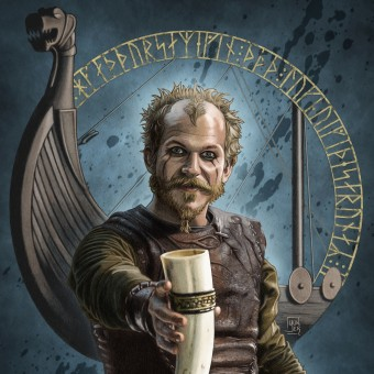 "Floki the Shipbuilder: my project for ""From Pencil Drawing to Digital Illustration"" course. Un projet de Illustration, Conception d'affiche, Illustration numérique et Illustration de portrait de Enrico Bisetto - 16.04.2021"
