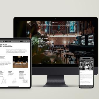 Sukaldean Aitor Santamaria. Un projet de Design , Design graphique , et Web Design de TGA - 20.04.2021