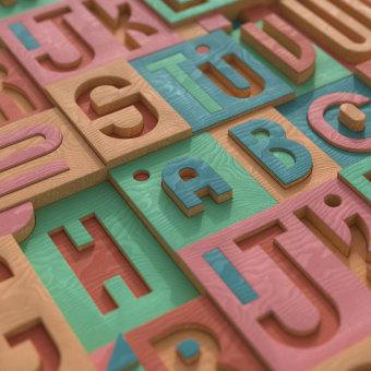 Alphabet Soup. Un proyecto de Diseño, 3D, Animación 3D, Modelado 3D, Diseño 3D, Diseño digital y Teoría del color de Brandon Carter - 09.04.2021