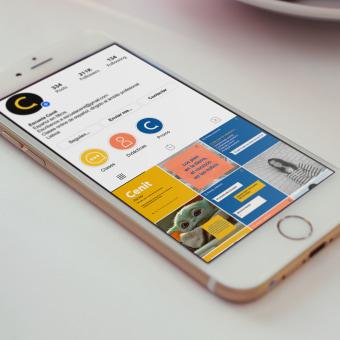 Escola Cenit - Branding y Redes Sociales. Un progetto di Br, ing e identità di marca, Graphic Design, Design di loghi, Instagram , e Marketing per Instagram di Cecilia Díaz - 22.04.2021