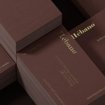 HÉBANO - TARJETA DE VISITA  . A Design, 3D, Br, ing & Identit project by David Espinosa - 04.23.2021