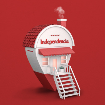 Independencia - Aquí. A Advertising, 3D, Br, ing, Identit, 3d modeling, and Design 3D project by Lucas Mercado - 09.01.2020