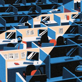 Ilustración para el diario El país. Un projet de Illustration de Daniel Crespo Saavedra - 25.04.2021