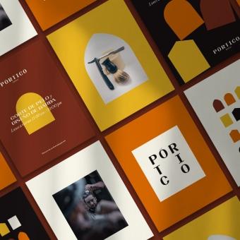 Pórtico Barbería. Un proyecto de Dirección de arte, Br, ing e Identidad y Diseño gráfico de Carlos De Santiago - 05.05.2021