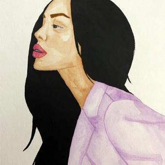 Mi Proyecto del curso: Retrato en acuarela a partir de una fotografía. A Illustration, Watercolor Painting, Portrait illustration, and Portrait Drawing project by Claudia Marisol Pérez Espinosa - 12.13.2020